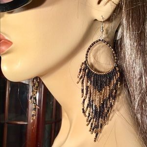 Jewelry - Beaded Earrings Big Statement BOHO Chandelier